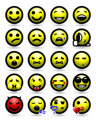 Smiley Face Icon Set