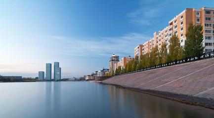 Embankment of the river Ishim . Astana. Kazakhstan