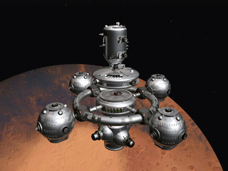 Mars with Space Station