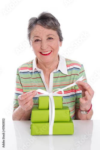 Großmutter hat runden Geburtstag