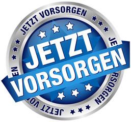 """Button Banner """"Jetzt vorsorgen"""""""" blau/silber"""