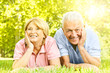 Smiling senior couple relaxed