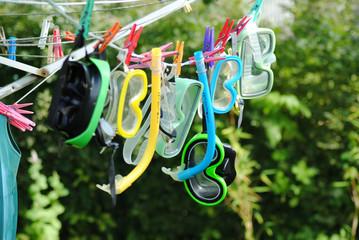 Waschtag in der Taucherschule