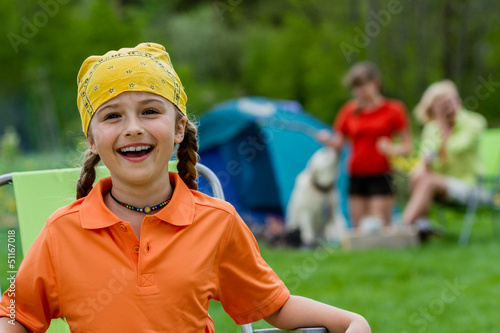 Summer camp, family on summer vacation - 51167018