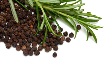 fresh rosemary and black pepper