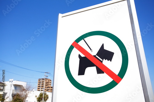 Signboard  no dogs