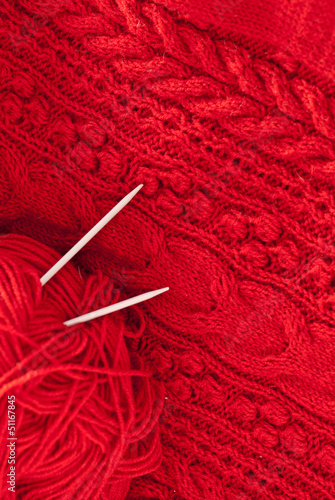 Detail of woven handicraft knit woolen design texture