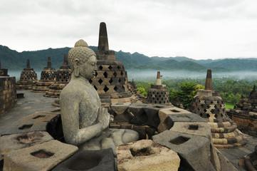 Sito archeologico di Borobudur sull'isola di Java in Indonesia