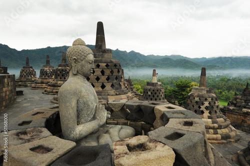 Foto op Plexiglas Indonesië Sito archeologico di Borobudur sull'isola di Java in Indonesia