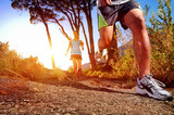 Fototapety healthy trail running