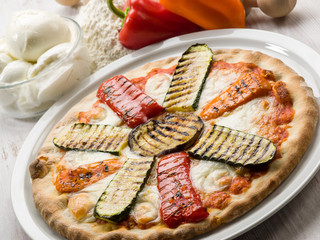 pizza with grilled vegetables
