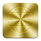 Golden world wide web icon