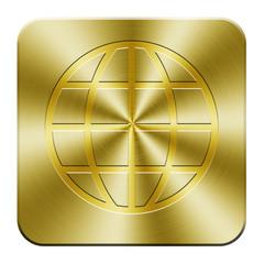 Golden world wide web icon