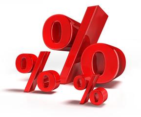 3 Prozentzeichen auf weiss