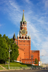 Moscow Kremlin tower at the morning light