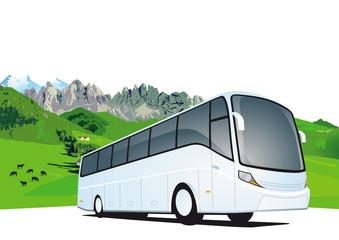 Busreisen in den Bergen