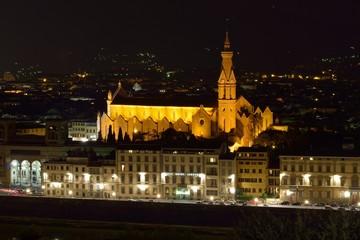 Santa Croce view at night, Florence