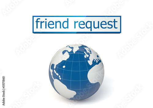 3d render. Friend request from the earth