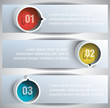 Abstract Web Banners with round blocks.