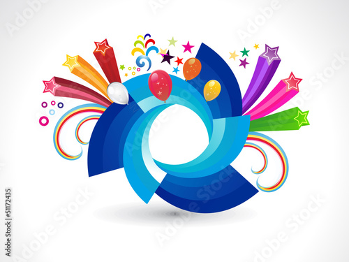 abstract rainbow rounded explode circle