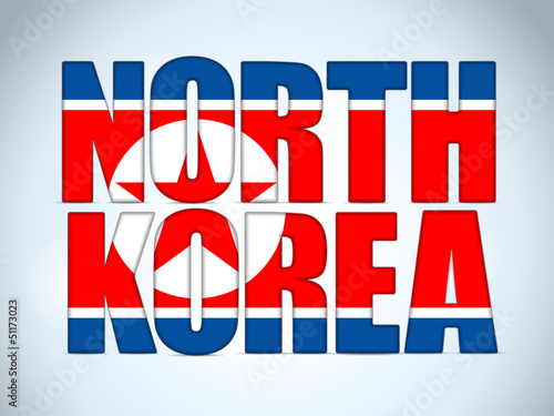 North Korea Country Letter Background