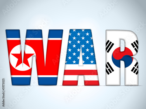 North Korea, USA and South Korea War