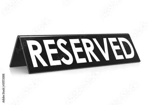 Reserved in black