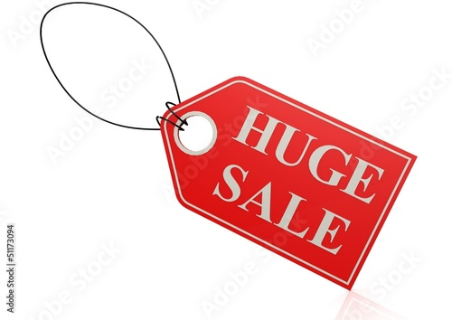 Huge sale label