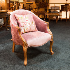 Armchair in a furniture store