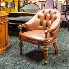 Classic chair in a furniture store
