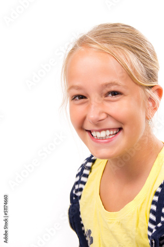 Pretty Blond Girl smiling