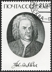 USSR - 1985: shows Johann Sebastian Bach (1685-1750), Composer