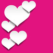 Heart magenta Background