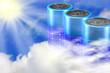 Solar Batterie Wolken Sonne - 51175430