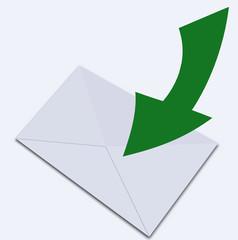 White envelope.Illustration