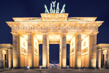 Brandenburger Tor (Brandenburg Gate) panorama in Berlin, Germany
