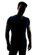 Fashionable male figure in silhouette