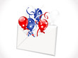 Envelope with balloons