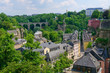 Old town and arch railway bridge in the City of Luxembourg