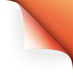 Apricotfarbene Papierecke gebogen vector