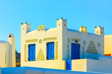 Traditional architecture in Mykonos island greece Cyclades