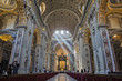 Interior of St. Peter's Cathedral, Vatican City. Italy