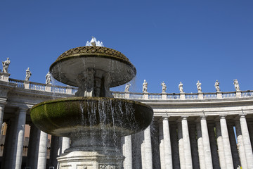 Colonnade of Bernini at the Piazza St. Peter's, Vatican, Rome
