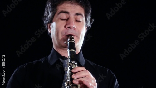 clarinetist close up