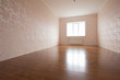 three white window in empty room