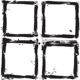 Set of grunge frames. Vector illustration.