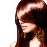 Fototapety Fashion Woman Portrait. Stylish Model. Beauty Makeup