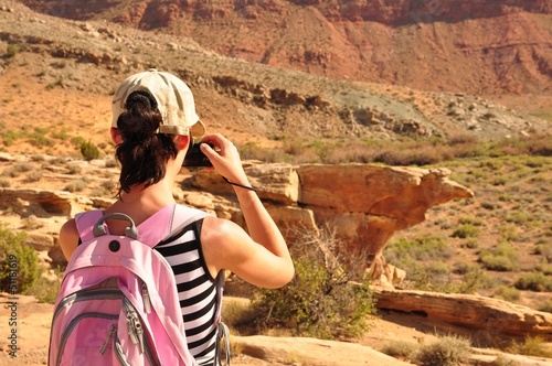 Pink Backpack Woman