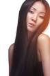Studio shot of asian woman