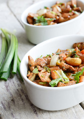 Stir-fried cashew nut chicken in thai style